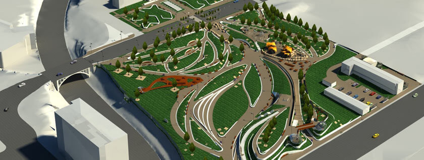 3D BIM Model of Park in California, USA