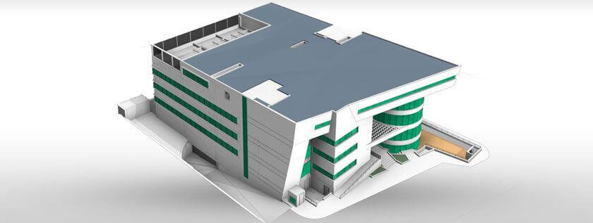 BIM 3D Model of Hospital Building