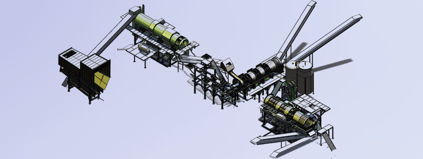 Recycling Plant 3D Modeling Services