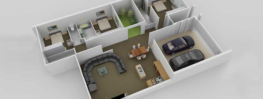 Architectural 3D Floor Plan Modeling