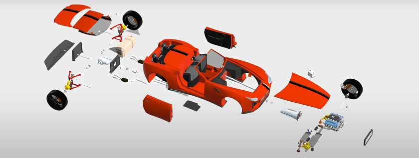 3D CAD Modeling for Automotive Components