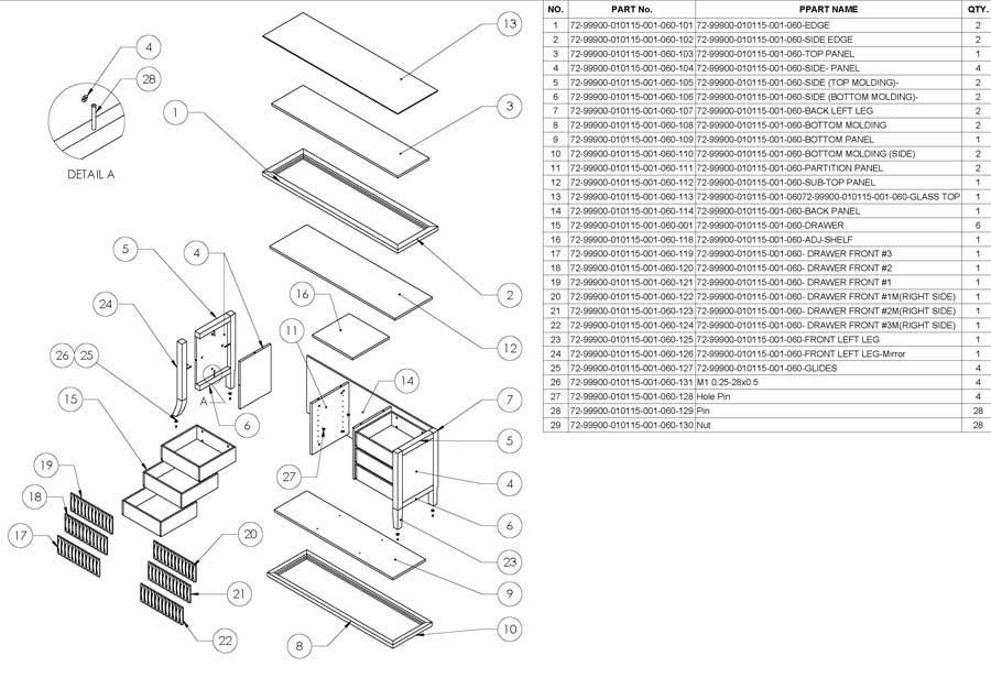 Bespoke Furniture Drawing