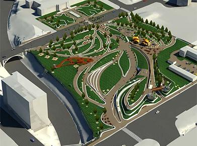BIM Modeling for Public Park