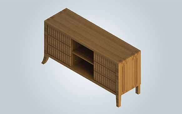 Photorealistic Rendering of Cabinet