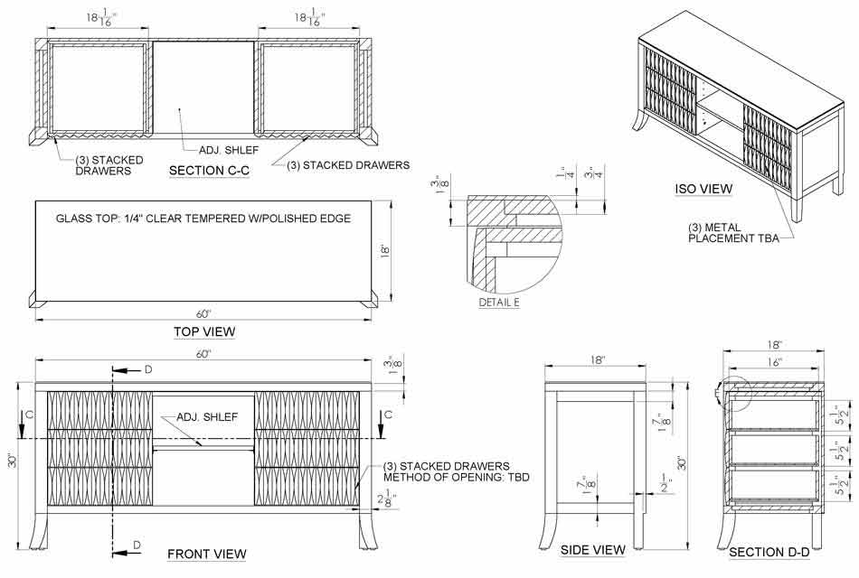 Cabinet Drafting& Casework Shop Drawings Services