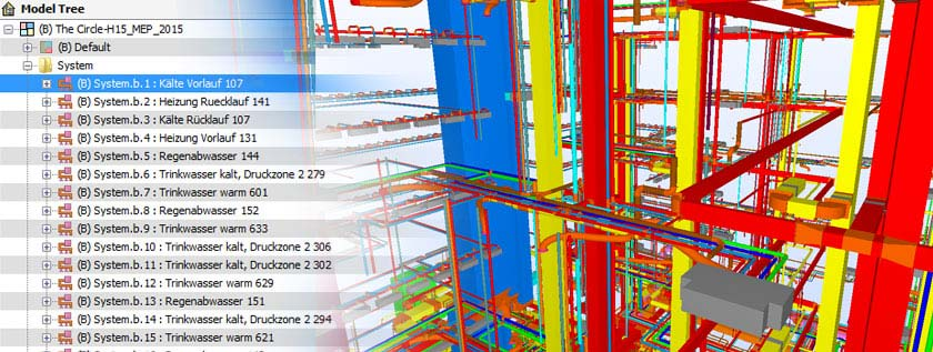3D MEP Clash Resolution in Navisworks