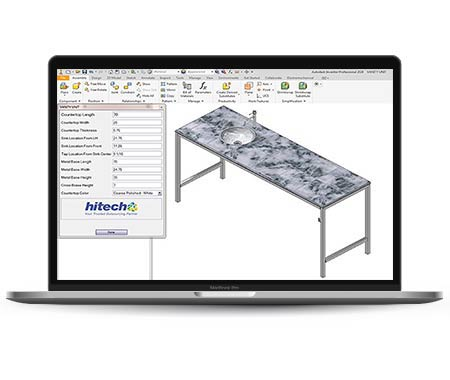 Developed Product Configurator using Inventor iLogic for Vanity Manufacturer, USA