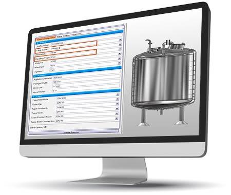 Process Tank Configurator using Inventor