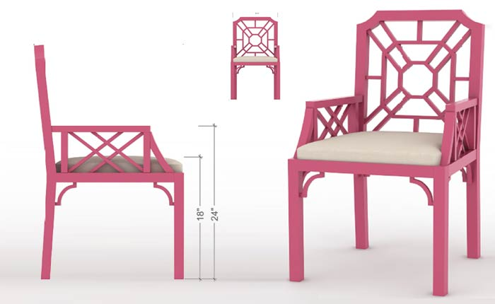 3D Furniture Model Rendering