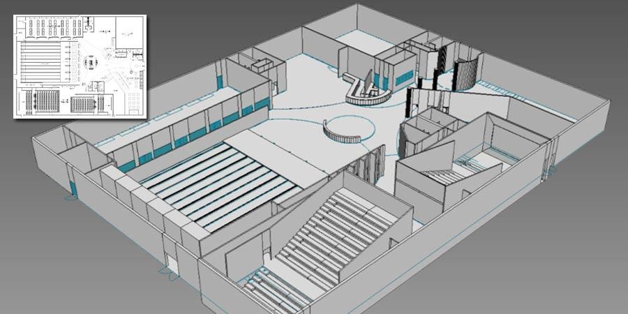 3D Interior Rendering of Entertainment Club, Boston, USA