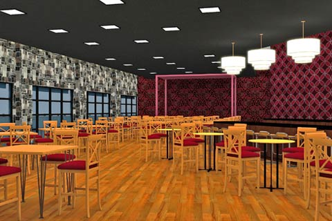 3D Modeling of Restaurant View