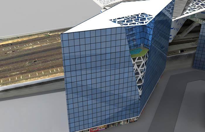 3D Rendering of Mixed Use Building