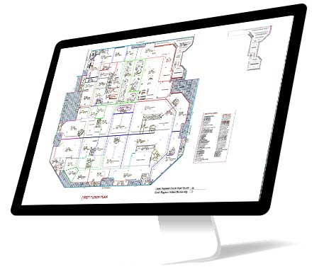 PDF to CAD Conversion of Commercial Building, Ohio, USA