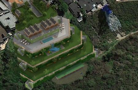3D Aerial View Rendering