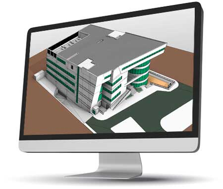 3D BIM Modeling for a Large Hospital Building, Egypt