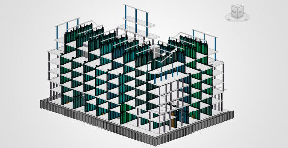 Structural model with formwork