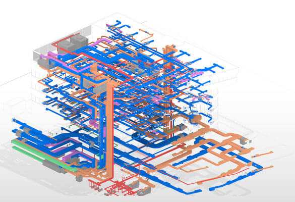 MEP BIM Model in Revit
