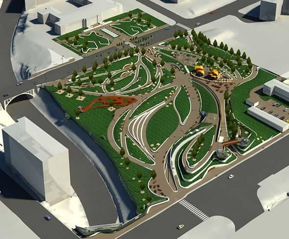 BIM Modeling Public Park