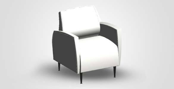 Revit Family Image of Sofa Chair