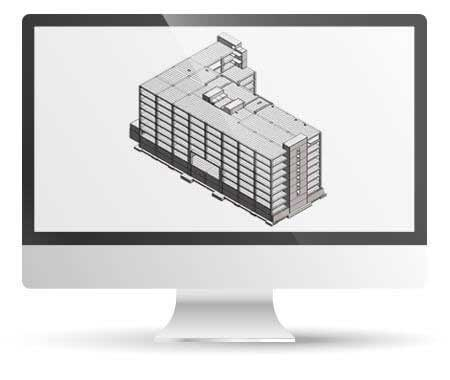 Revit Structural Model with LOD 450 for Office Building, India