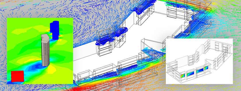 CFD Simulation of Wind driven Building Facade