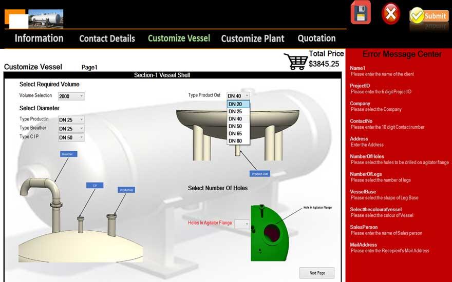 CAD Configurator for Pressure Vessel