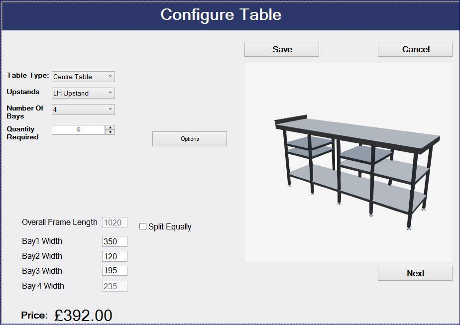 Online Configurator for SS Furniture