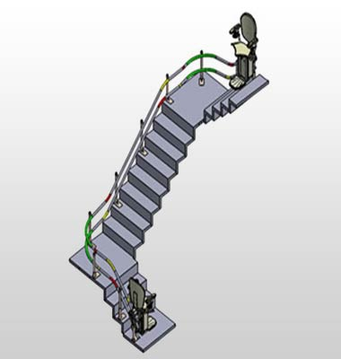 3D Modeling & Fabrication Drawing for Stairlifts Manufacturer