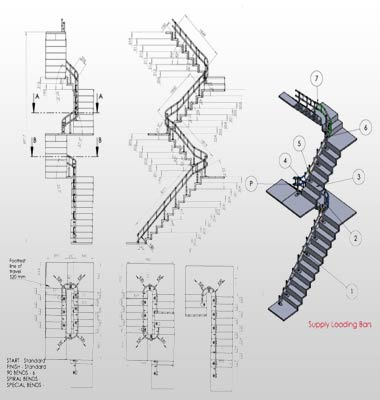 Stairlift Manufacturing Drawings