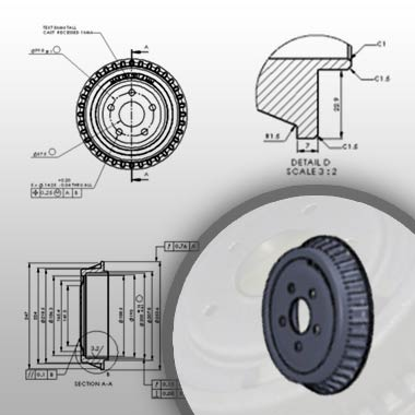 Detail Drawings 3D Modeling Components
