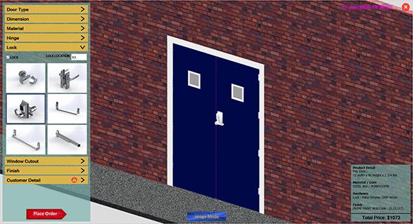 3D Door Component Configuration