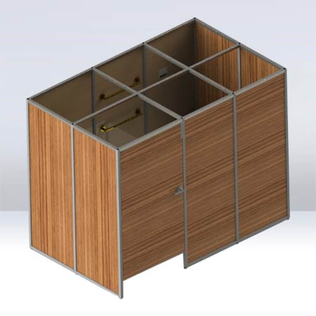 Fitting Room 3D Render Model