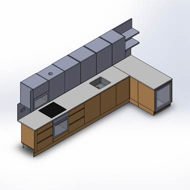 3D CAD Modeling of Metal and Wooden Furniture Manufacturers