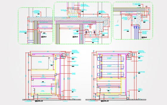 Millwork Shop Drawings with Details