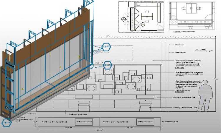 Display Cabinet Drawings & Model