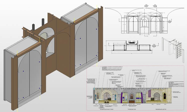 Display Cabinets Drawings & Rendering