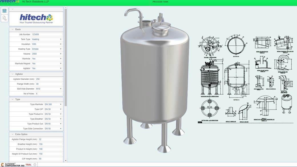Develop CAD Configurator Custom Tanks