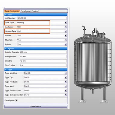 Process Tank Configurator in Driveworks