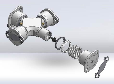 3D CAD Model of Automotive Parts