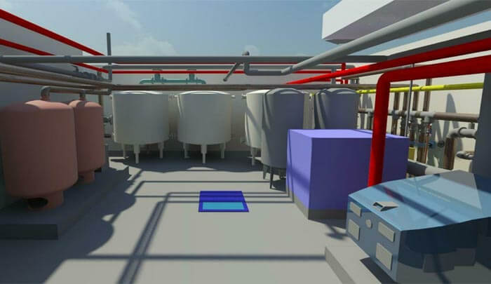 MEP 3D Modeling for Plant Room