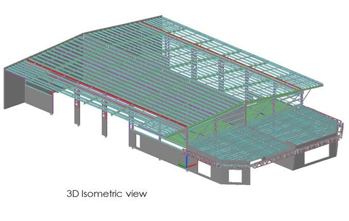 3D Isometric View in Tekla