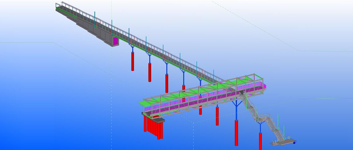Steel Detailing of Pedestrian Bridge
