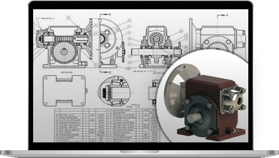 2D to 3D CAD Conversion of Reducer Gear Assembly, India