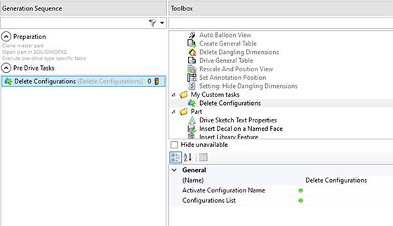 Delete Configurations