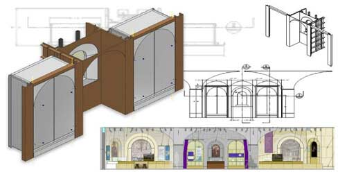 Millwork & Casework Shop Drawings for Institutional Furniture Manufacturer in USA