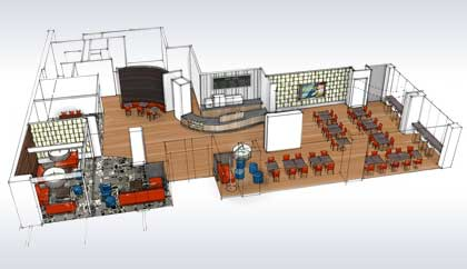 Architectural Plan for Hotels Restaurants