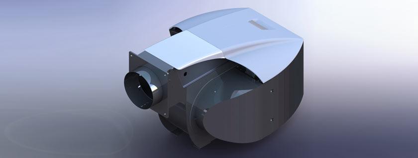 3D Rendering of Industrial Gas Burner