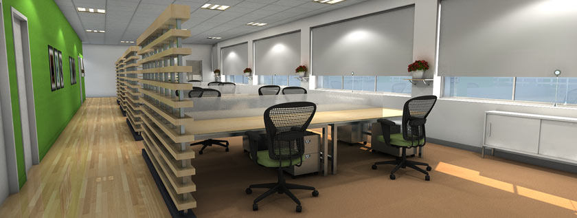 Office Interior 3D Rendering Services