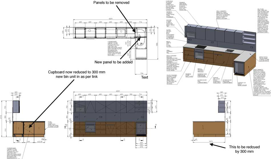 Kitchen Millwork Drafting & Custom Joinery Drawings Services