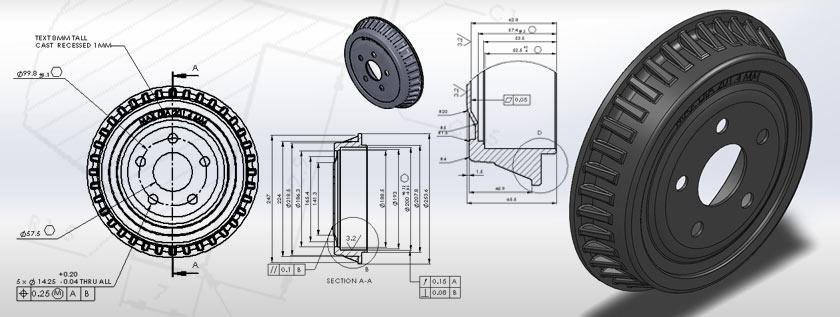 Machine Part 3D CAD Modeling Service